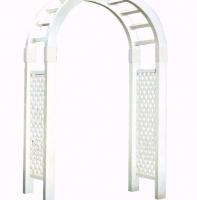 White Lattice Archway